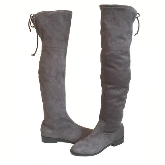 3a8d516ab63 Steve Madden Grey Orlene Over The Knee Boots 8.5
